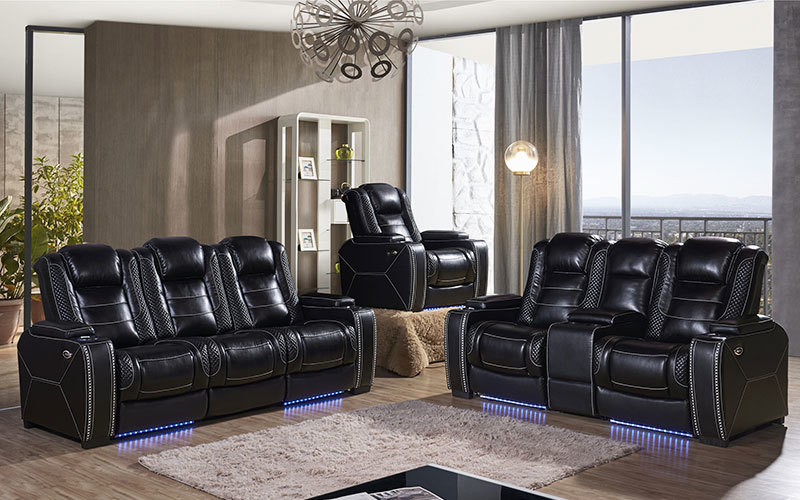Air Leather Electric Home Theater Seating Recliner Sofa Wholesale