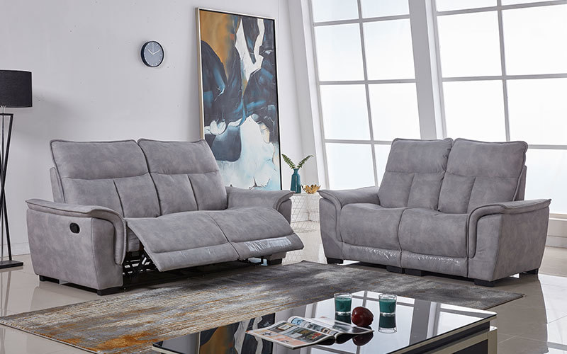 Contemporary Manual Fabric Living Room Recliner Sofa Couch Supply