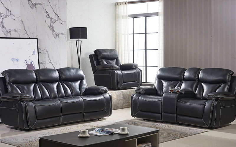 Contemporary Manual Living Room Recliner Sofa Sets Wholesale