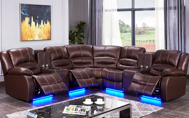 Alison living room recliner with led for hotel-1