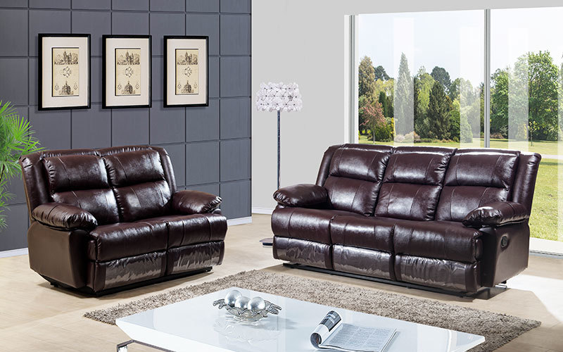 Contemporary Living Room Furniture Manual Recliner Sofa Sets Supply