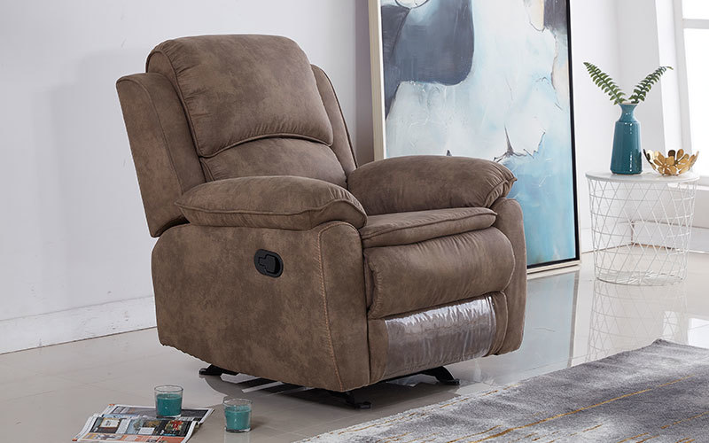 Latest Single Fabric Rocker Glider Recliner Chair Wholesale