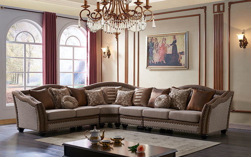 American Fabric Traditional Living Room Furniture Sofa Supply