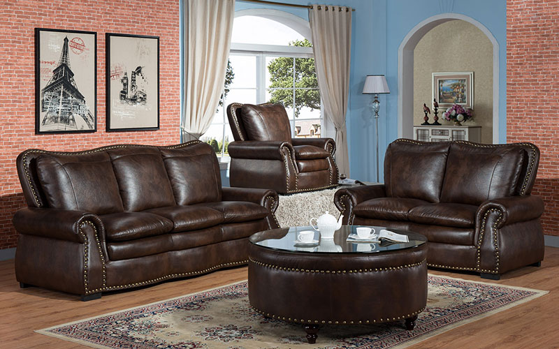 new living room furniture sofa with console for home-2