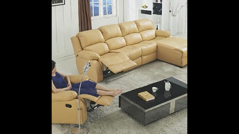 Custom Comfortable Power Recliner Sofa Sets