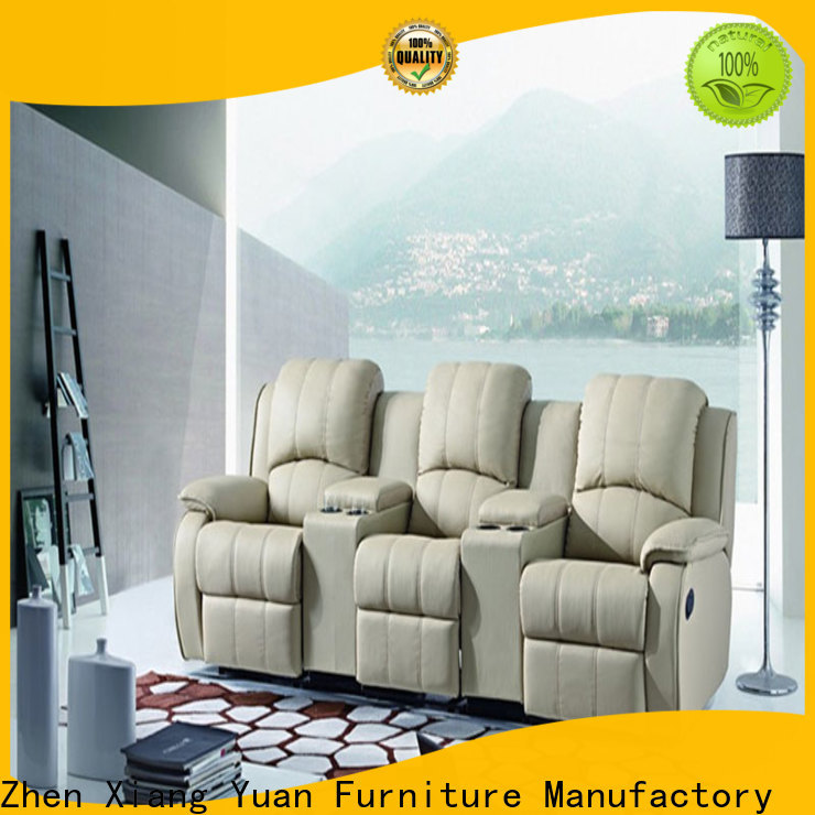 beige home theater recliner sofa suppliers for apartment