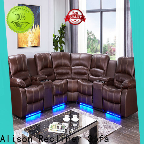 Alison living room recliner with console for hotel
