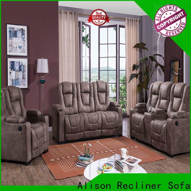 Alison fabric home cinema sofa supply for apartment