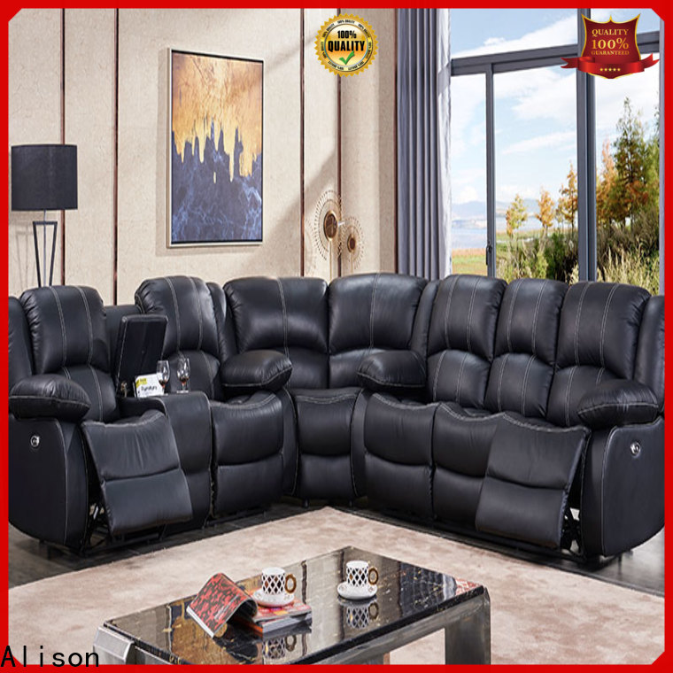 synthetic leather living room sofa company for business