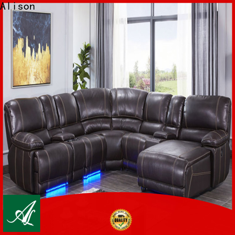Alison living room furniture recliners with led for apartment