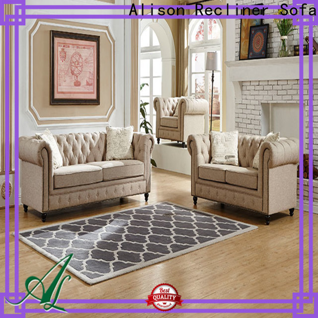 Alison synthetic leather living room sofa manufacturers for apartment