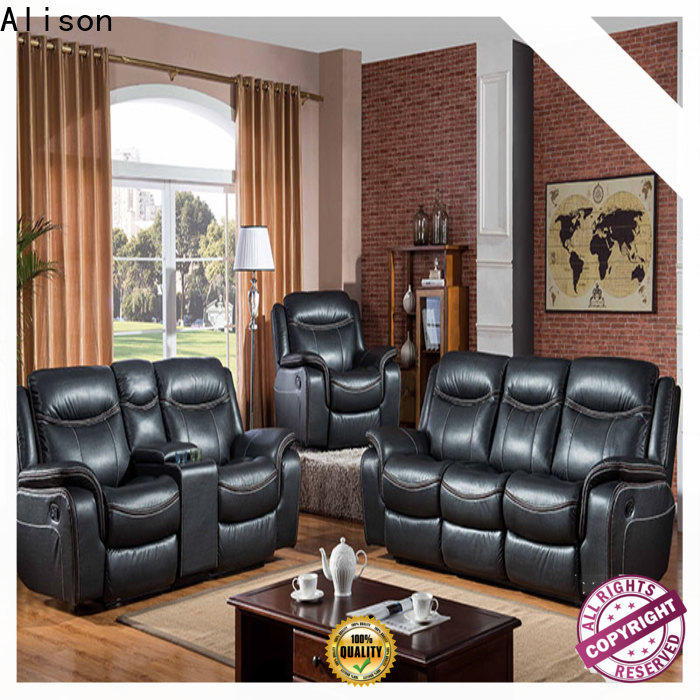 synthetic leather living room furniture recliners supply for hotel