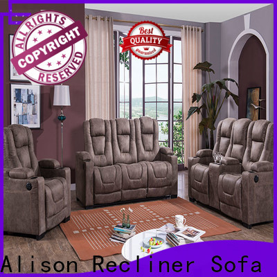 latest best home theater recliners with console for business
