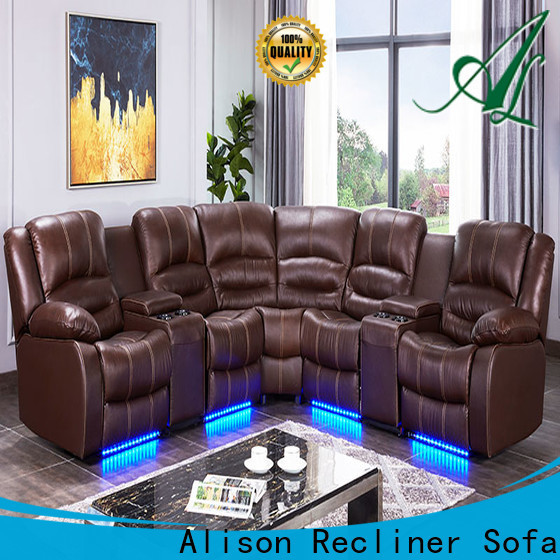 Alison new living room furniture recliners with led for business