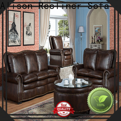 Alison fabric living room sofa set with led for apartment