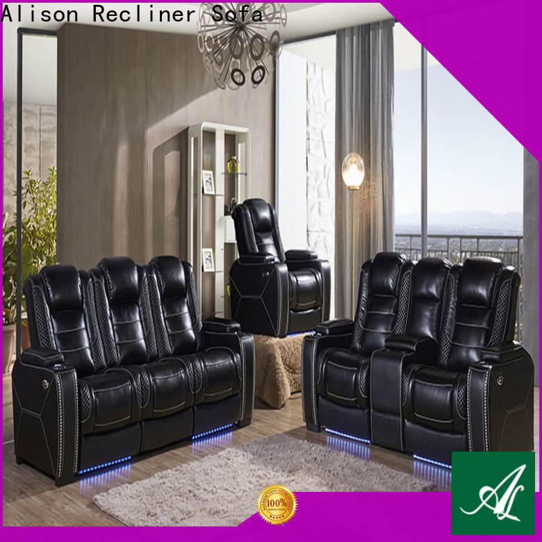 Alison latest living room furniture sofa with console for hotel