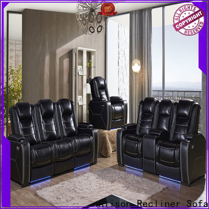 best living room furniture recliners with led for business