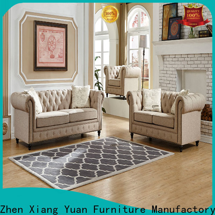 synthetic leather living room sofa set company for home