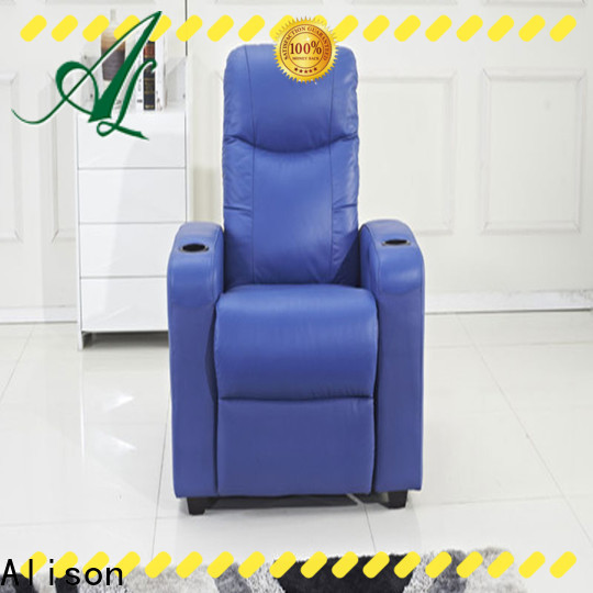 Alison beige home theater recliner sofa factory for hotel