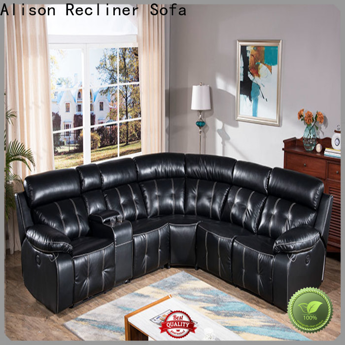 Alison living room recliner with led for home