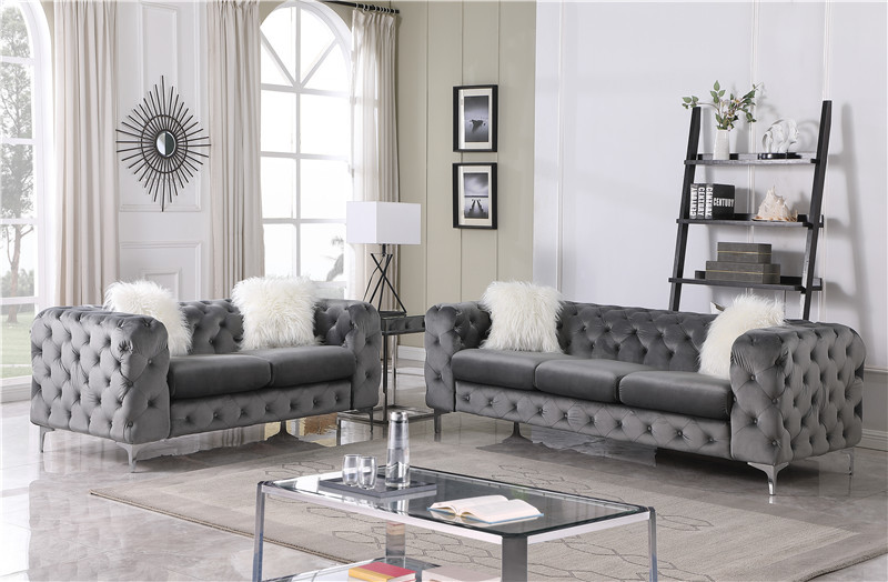 European Style Regional Style and Chesterfield Sofa Style living room sofa