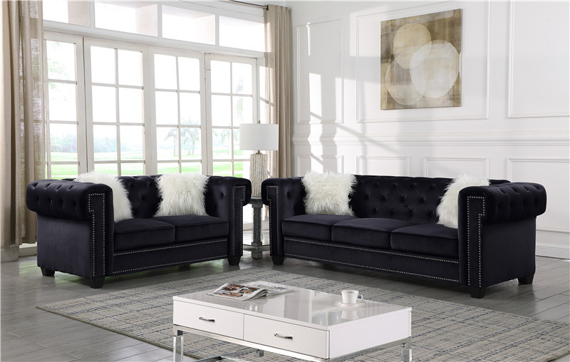 European French Style Fabric Sofa Sets