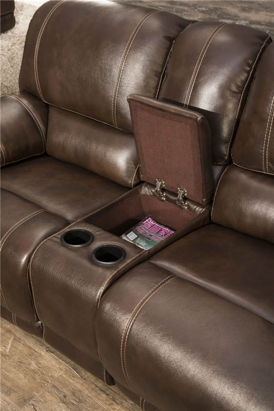 Living room recliner sofa group with chaise